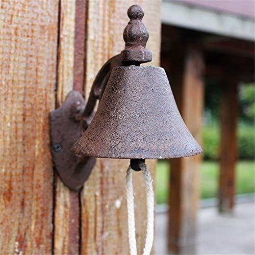 アンティークドアベル レトロ鋳鉄ドアベルの伝統的なクラシックドアのベル鋳鉄ウォール・ベル 鋳鉄の装飾的なドアベル (Color : Brass, Size : 17X15.5X10CM)