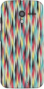 Snoogg Aztec Pattern Digital Ray Designer Protective Back Case Cover For Moto-X