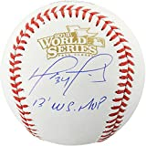 David Ortiz Boston Red Sox Autographed World Series Logo Baseball with 2013 WS MVP Inscription - Autographed Baseballs