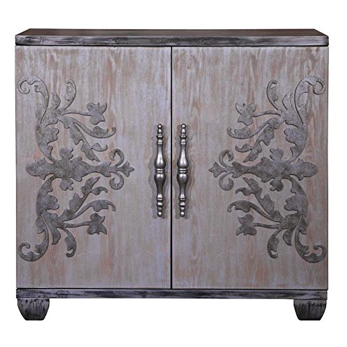 Pulaski P020021 Metal Scroll 2 Door Bar Cabinet with Adjustable Shelves, 40