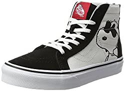 Vans Kids Sk8-hi Zip (Peanuts) Joe Coolblack Skate Shoe 11 Kids Us