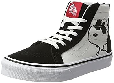 Vans UY Sk8-Hi Zip (Peanuts) Joe Cool/Black VN0A3276OQU Kids 1