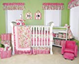 14 Pcs Paisley Park Trend Lab Pink Green Paisley Crib Bedding Set Nursery Ensemble Complete