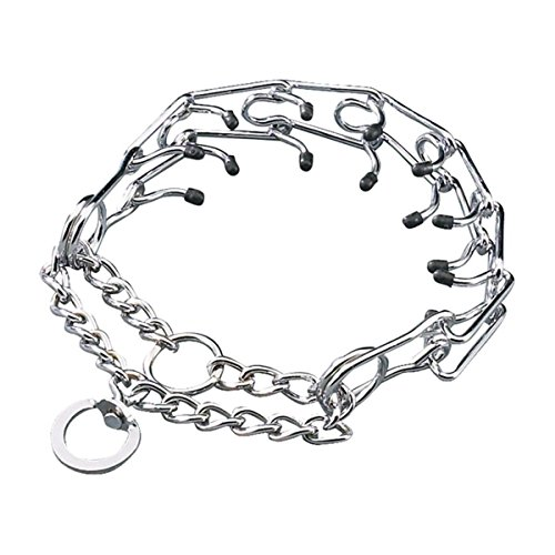 Pettom Gear Chrome Plated Steel Dog Prong Collar 20
