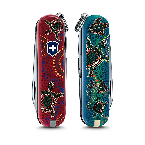 Victorinox Swiss Army Classic Sd Pocket Knife, Turtles Down (Red Classic Pocket Knife)
