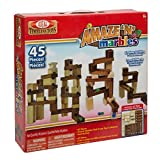 Ideal Amaze 'N' Marbles Classic Wood Construction Set with Storage Canister, 45-Pieces
