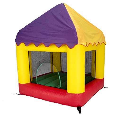 Bazoongi 6.25' x 6' Bounce House with Open Roof (with Circus Cover)