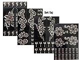 Tattoo Stencil / Template 4 Large Sheet Set Taj Henna Designs Great Value