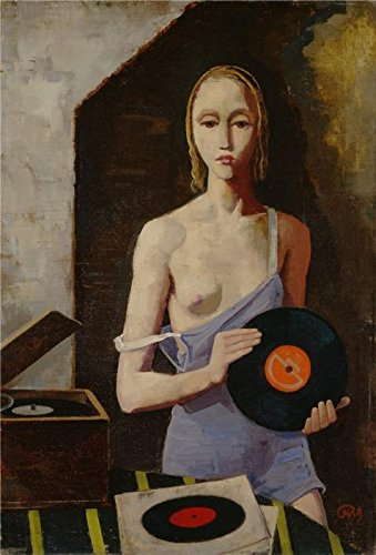 'Karl Hofer,The Record Player,1939' Oil Painting, 8x12 Inch / 20x30 Cm ,printed On High Quality Polyster Canvas ,this Vivid Art Decorative Canvas Prints Is Perfectly Suitalbe For Bathroom Decor And Home Decoration And Gifts