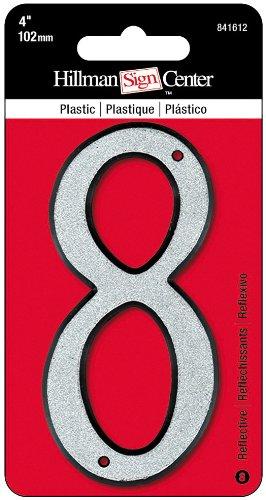 4 plastic house numbers - 5