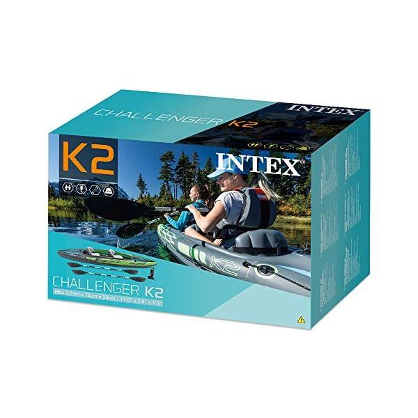 51NlIXpHzkL Intex Challenger K2 Schlauchboot - Aufblasbares Kajak - 351 X 76 X 38 cm - 3-teilig