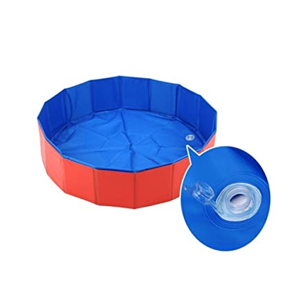 Amazon.com : PVC Pet Swimming Pool, Portable Collapsible ...