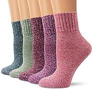 Natalie Winter Women Socks 5 Pairs Vintage Style Knit Wool Casual Socks Warm Socks