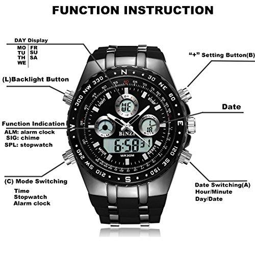 BINZI-Big-Face-Sports-Watch-for-Men-Waterproof-Military-Wrist-Digital-Watches-in-Black-Silicone-Band