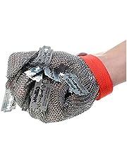Steel Wire Gloves Butcher Gloves, 316L Steel Wire Cut-Resistant Metal Gloves, Stainless Steel Wire Gloves