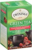Twinings Green Tea Bags, Pomegranate, Raspberry and Strawberry, 20 Count, pack of 6