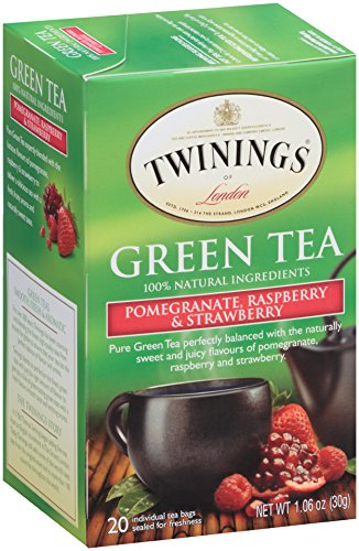 Twinings Green Tea Bags, Pomegranate, Raspberry and Strawberry, 20 Count, pack of 6 (Bags Tea Twining Green)