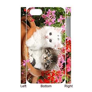 MMZ DIY PHONE CASEALICASE Diy 3D Protection Hard Case Lovely Cat For iphone 6 4.7 inch [Pattern-1]
