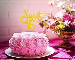 Amazon.com: Sweet 16 – Pancarta de cumpleaños, como ...