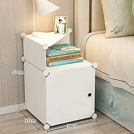 Portable White Bedside Table Night Stand end Tables Side Tables Bed Side  Night Stands for bedrooms with Storage Organizer Small White Cabinet ...