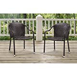 Cheap Crosley Furniture CO7137-BR Palm Harbor Outdoor Wicker Stackable Chairs (Set of 2) – Brown