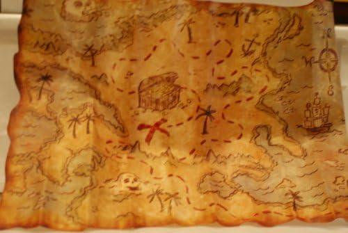 NUOVO Partito Fancy Dress-PIRATA PIRATI TREASURE MAP x contrassegna il punto