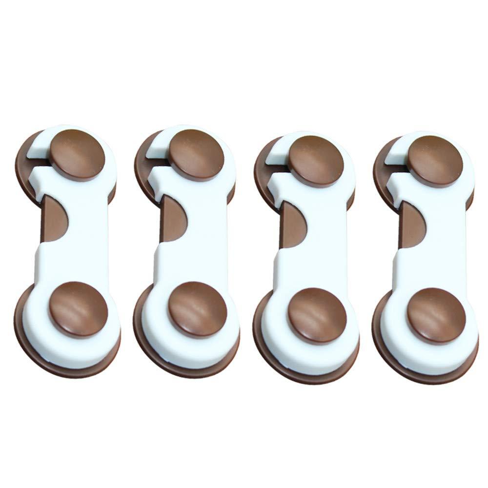 Xshuai/® 4/pcs enfant S/écurit/é enfants Box tiroir placard armoire Verrou de s/écurit/é pour porte de r/éfrig/érateur
