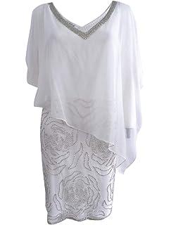 489bae2342c J Kara Women s Embellished Split-Sleeve Chiffon Overlay Dress (10