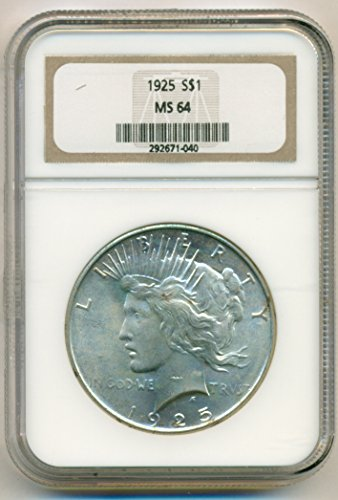 1925 Peace Silver Dollar MS64 NGC