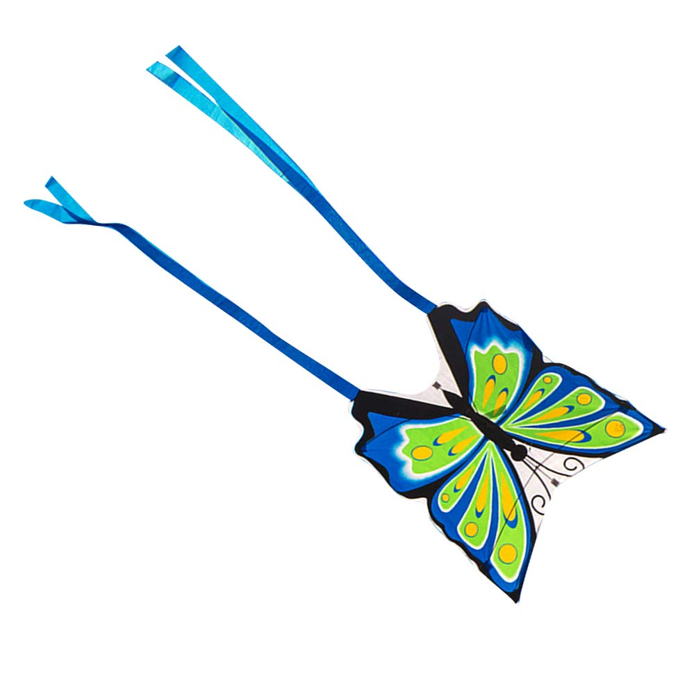 LIOOBO Butterfly Kite Portable Kite Flying Toy Long Tails Kite Toy for Beach and Summer Fun Blue
