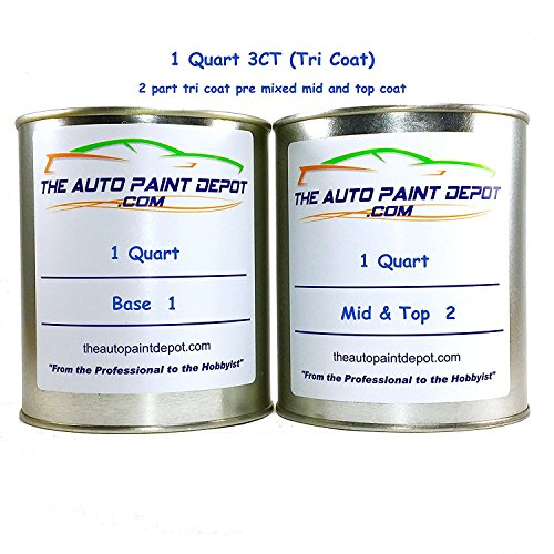 MAZDA MAZDA 3 Snowflake White Whitewater Pearl 3ct 25D 1 Quart 3ct Touch Up Paint (For All Year) by Auto Paint Depot (Image #6)