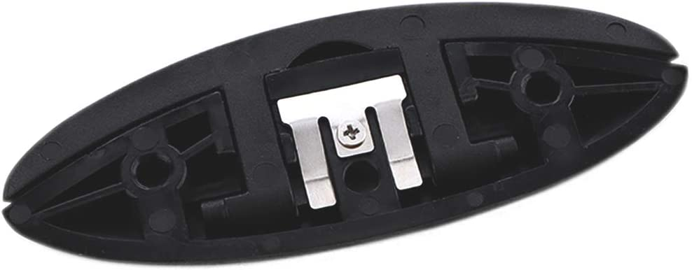 Black VTurboWay 5 Folding Cleat Marine Grade Nylon Flip-up Dock Cleat w Long Screws M6