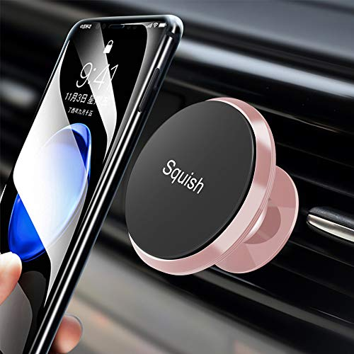 Squish Universal Magnetic Car Phone Mount Air Vent Phone Holder for iPhone Samsung Galaxy and Android (Pink) by Squish