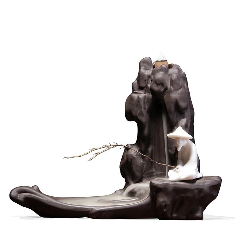 金曜日謎めいた破裂Proslen 香炉 線香皿 線香立て 横置き筒型香炉 陶器 線香炉 仏壇 透かし彫り