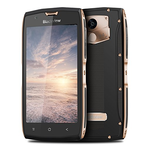 Blackview BV7000 Pro Smartphone IP68 5 Zoll Touch-Display Outdoor Handy (4GB RAM+64GB ROM, Fingersensor, 13MP+8MP Kamera, Android 6.0), golden
