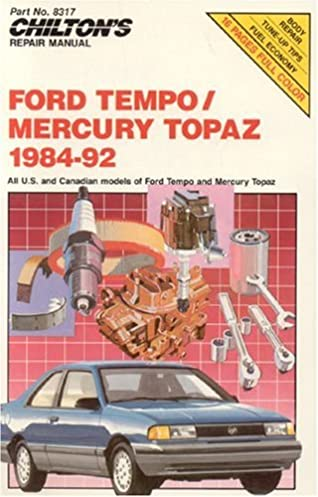 51NlMd3lPAL._SX318_BO1204203200_ ford tempo and mercury topaz, 1984 92 (chilton's repair manual Ford Topaz at alyssarenee.co