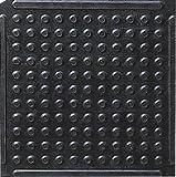 Knob Top Kitchen Mats Black 4' x 4'