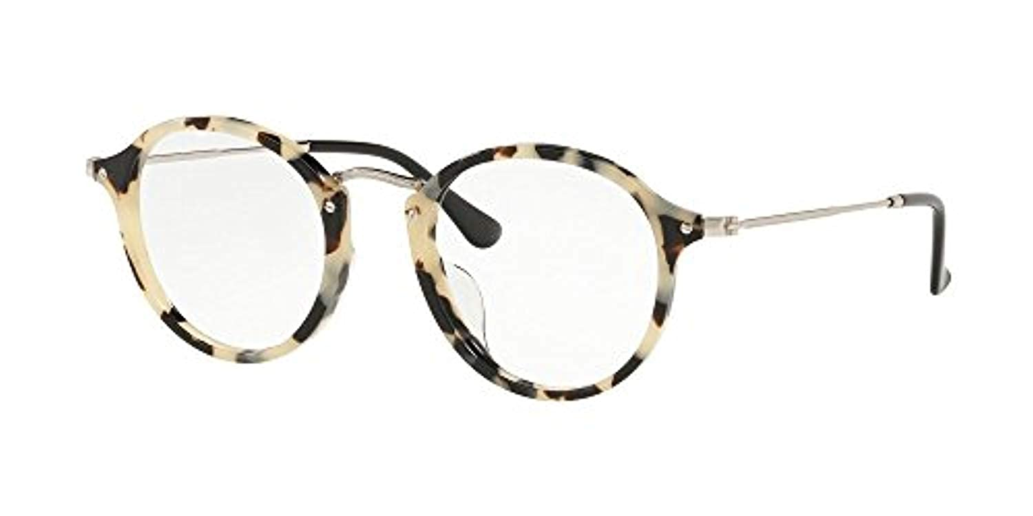 54750567a3 Ray-Ban Round fleck Asian Fit Black RX2447 RB2447VF 2000 49-14 Medium   Amazon.co.uk  Clothing