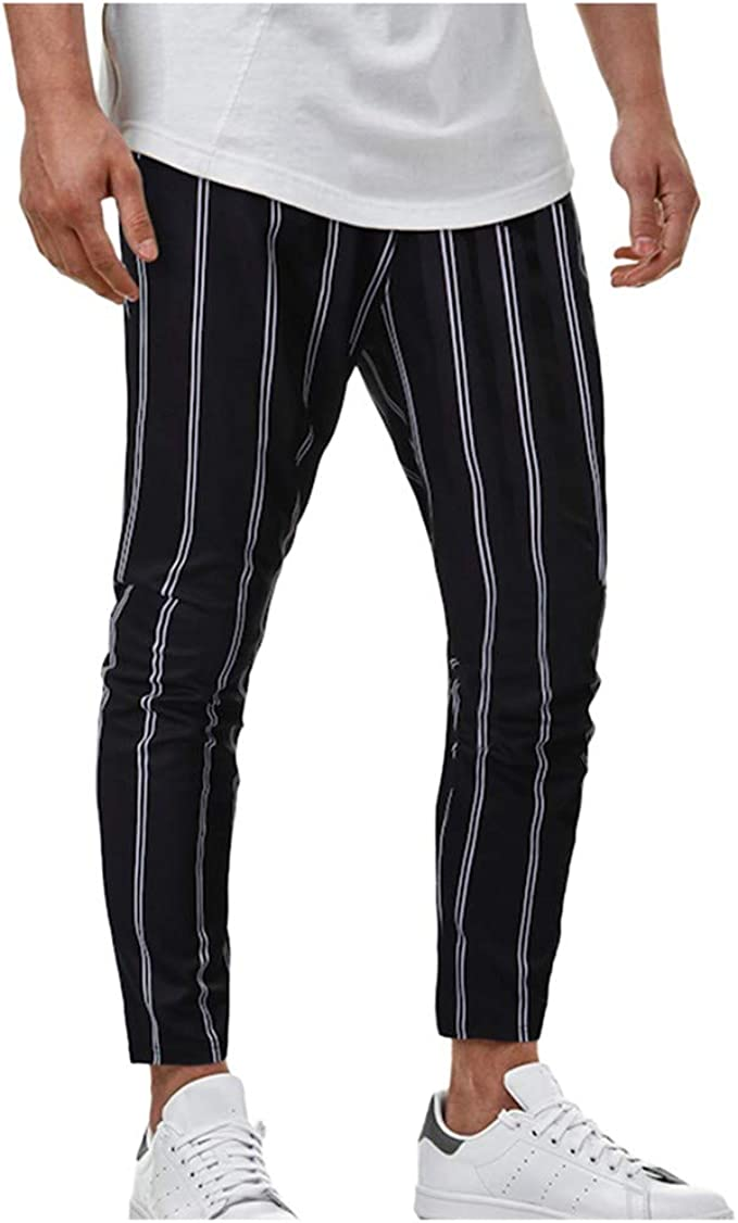 FRPE Men Fleece Trousers Plus Sized Casual Straight Fit Sport Flat Front Pants