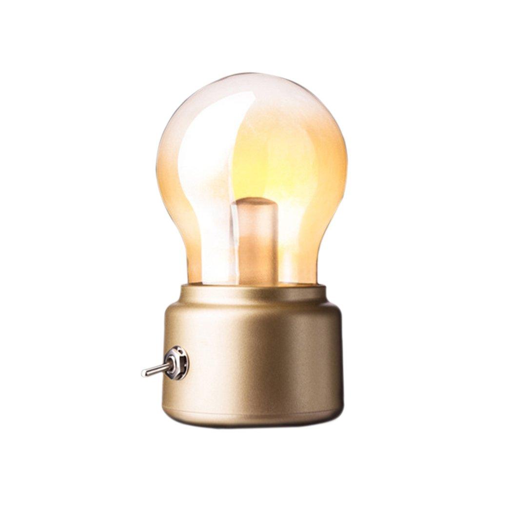 Soriace®Mini LED Tischlampe, Drahtlose Batteriebetrieben Nachtlicht ...
