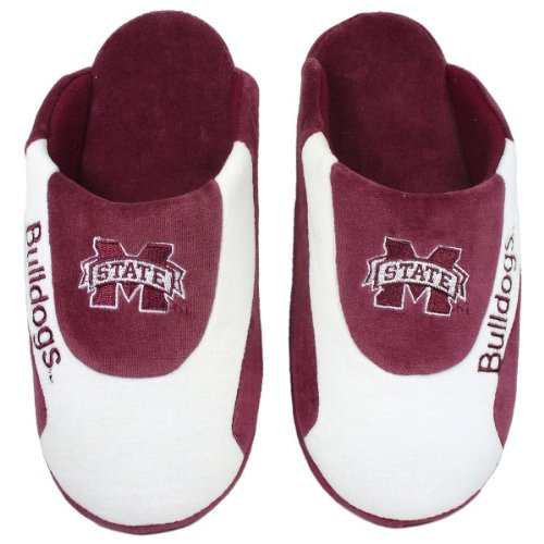 Happy Feet Mens and Womens Officially Licensed NCAA College Low Pro Slippers Mississippi State Bulldogs 4eNVn4