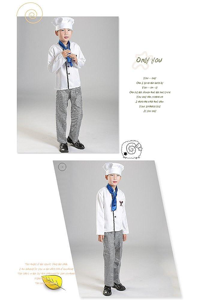 Vestito Operato per Bambini//Costume da Gioco//Cuoco Uniforme BOZEVON Bambino Ragazzo Ragazza Uomo Donna Maestro Kit da Cuoco