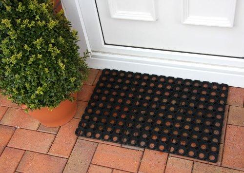 "The Rug House Tough Hard Wearing Outdoor Rubber Links Doormat 1'3"" x 1'11"""