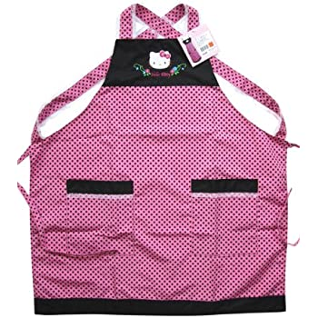 amazoncom pink polka dot hello kitty apron hello kitty