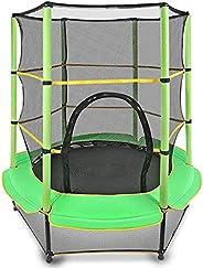 "Veluoess 55 ""Trampoline for Children, Mini Toddler Trampoline with Safety Net,Built-in Zipper, Round Tram"