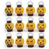 1 Dozen Halloween Light Up Pumpkin Lanterns for Best Halloween Decorations Props