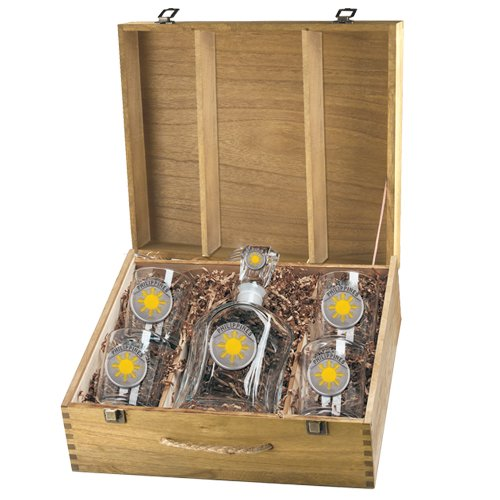 PHILIPPINES SUN CAPITOL DECANTER BOX SET & DOUBLE OLD FASHION - Philippines Eyeglasses Frame
