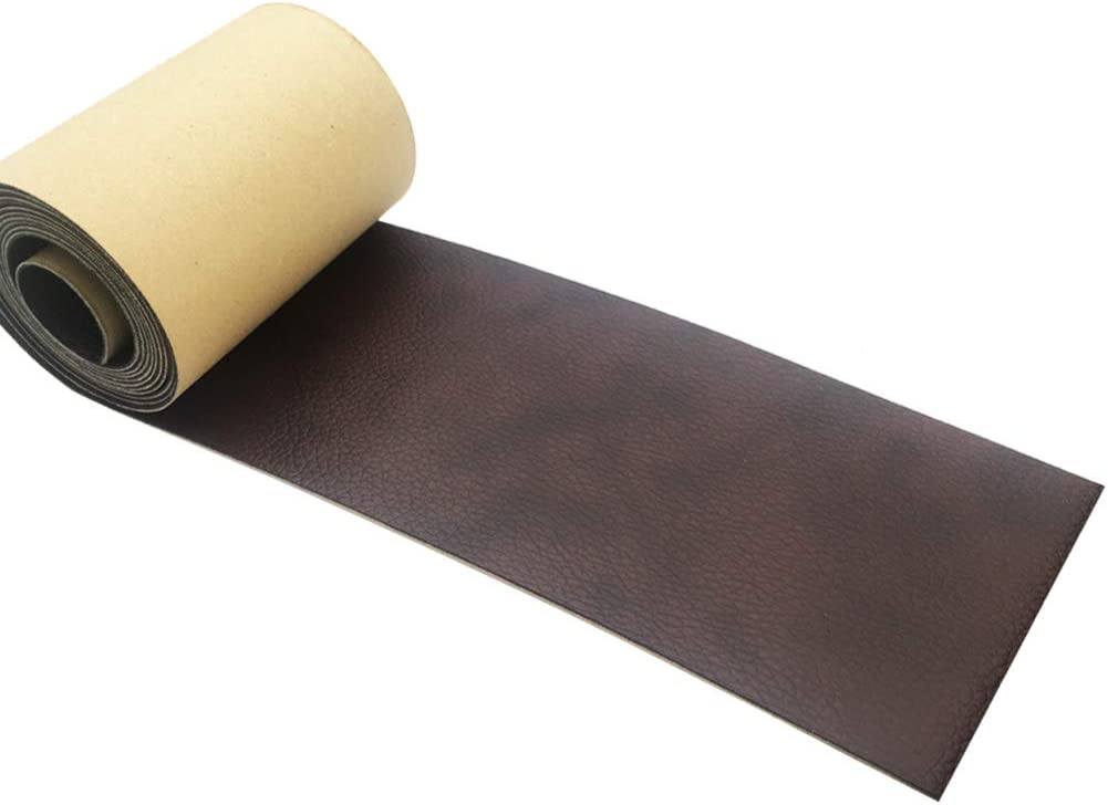 Leather Tape 3X60 Inch Self-Adhesive Leather Repair Patch for Sofas, Couch, Furniture, Drivers Seat (Brown)