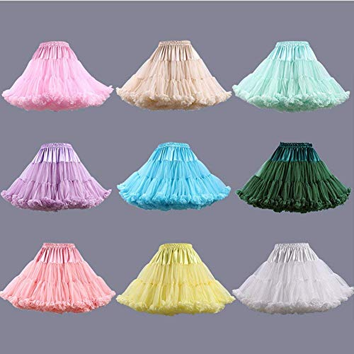 Tulle Couches Tutu Costume Femmes Luxueuse Ballet Mall Jupon Ab Rose Douce Jupe Multi qHR18n
