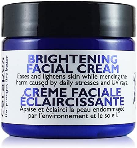 Carapex Brightening Face Cream | Natural Skin Lightening Cream for Sensitive Skin | Treat Scars, Acne Marks, Dark Spots, Uneven Skin Tone and Skin Discolorations | Fragrance Free 2 oz